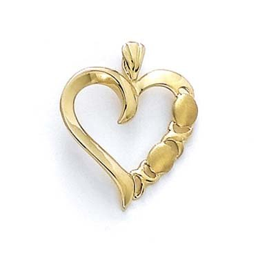 14 carats Taille L et O JewelryWeb-Pendentif Coeur