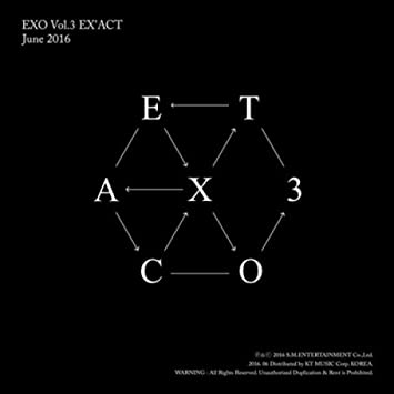 EXO 3RD ALBUM EX'ACT KOREAN MONSTER VER  + PHOTO BOOKLET+PHOTO CARD