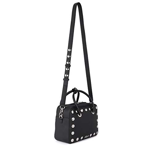Karl Black Lagerfeld Handbag With Tumbled Karl Women's Lagerfeld Leather Black Studs ECvxqw6t