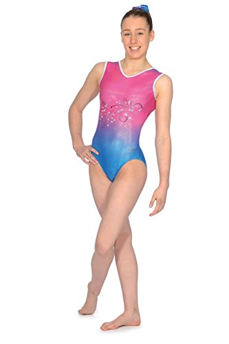 07290cf19 The Zone Vienna Sleeveless Gymnastics Leotard  Amazon.co.uk  Sports ...