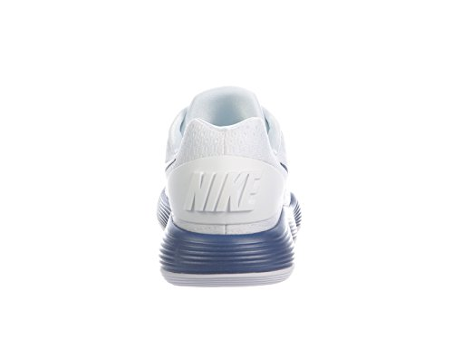 Nike Mens React Hyperdunk 2017 Basse Scarpe Da Basket Sintetiche Bianche / Blu Corte