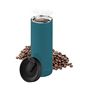 bobble French Coffee Presse For Travel, On-The-Go use, Quick Brew, Slim Design, Triple Wall Insulation, 14 oz (Peacock)