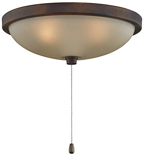Fanimation LK124ATS 11 Inch Light Kit Antique Brass with Whi