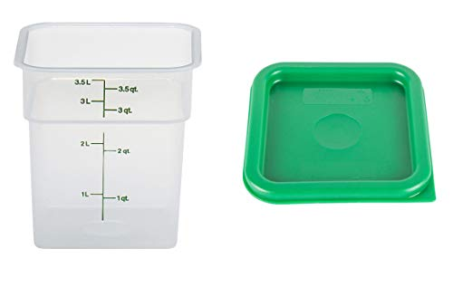 Cambro CamSquare Food Storage Container with Lids: Set of 3, 4 Quart Containers