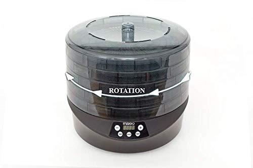 5 Plateaux Machine /électrique d/éshydrateur 500W pas besoin de changer les plateaux Maxxo RotoDry+ D/éshydrateur alimentaire rotatif Syst/ème de rotation
