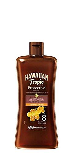 Hawaiian Tropic Mini Protective Dry Oil SPF 8 100 ml (Best Suntan Lotion For Face Uk)