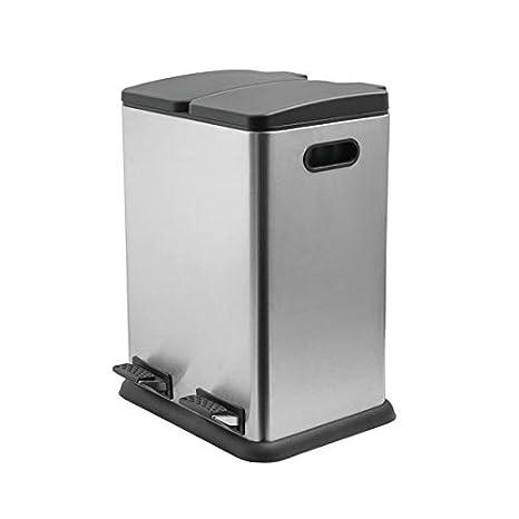 Amazon.com: Addis papelera de reciclaje de 2 compartimentos ...