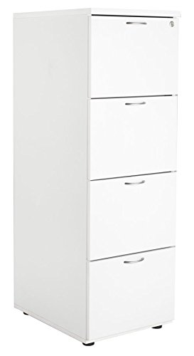 White 4 Drawer Filing Cabinet, Wood Filing Cabinet   White Filing Cabinet  From The Smart
