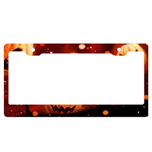 The Edges of License Plate Frames are Slick and Thick Finish, it Will not Hurt Your Finger, Anti-Peel and Durable - Pumpkin Halloween Wallpapers