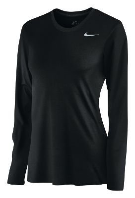 Nike women's long sleeve legend shirt Large ()