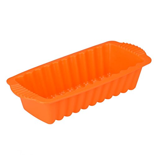 Gessppo Molde de Pastel Silicone Rectangle Non Stick Bread Loaf Cake Mold Bakeware Baking Pan Oven Mould Tool Kitchen Tool Baking Tool for Home -