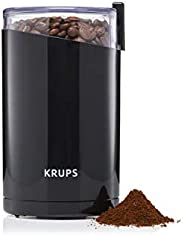 KRUPS Electric Spice and Coffee Grinder with Stainless Steel Blades, 3-Ounce, Black