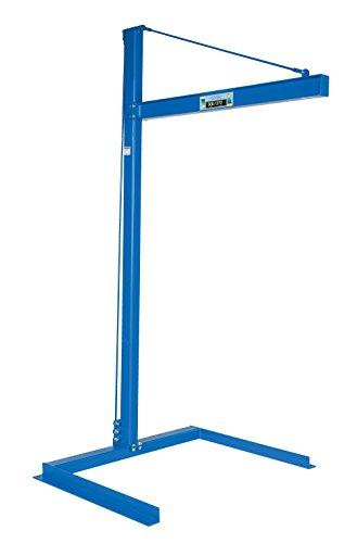 (Vestil CJIB-6 Mini Overhead Cantilever Jib Crane, Freestanding, Steel, 600 lb. Capacity, 106-11/16 x 53-3/4 x 63-1/8 inches)