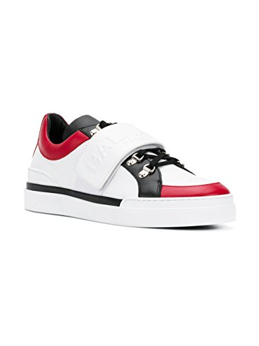 Balmain Mens Sneakers In Pelle Bianca S8hc123pvsy209