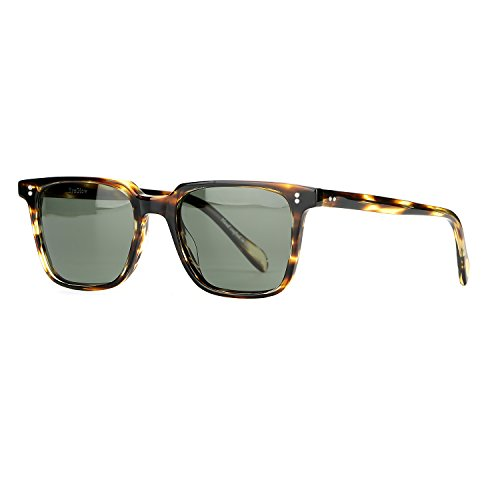 EyeGlow Vintage Square Designer Sunglasses Men and Women Polarized Lens Tortoise Sunglasses - Italian Sunglasses Vintage