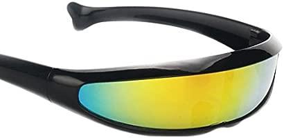 MagiDeal Gafas de Sol Visera Lente Color Estrecha Futurista ...