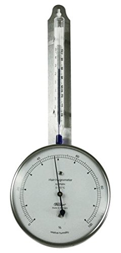 Ambient Weather Fischer 125-01 Instruments Laboratory Grade Indoor/Outdoor Thermometer with Synthetic Hair Hygrometer