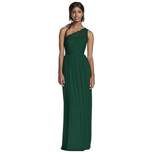 Shoulder Dress Bridesmaid Bridal One Juniper Long David's F17063 Lace Style qRt7t6