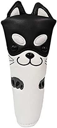 SM SunniMix PU Leather Golf Putter Head Cover Non-Slip Club Headcover Sleeves, Golf Putter Blade Head Cover Em