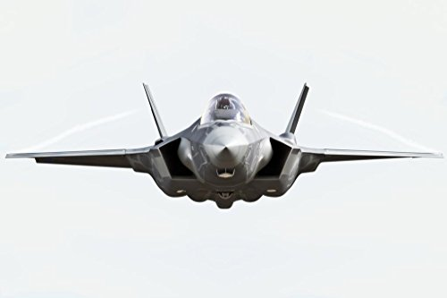 F35 Lightning II Fighter Jet Plane Front Isolated Photo Poster 36x24 inch