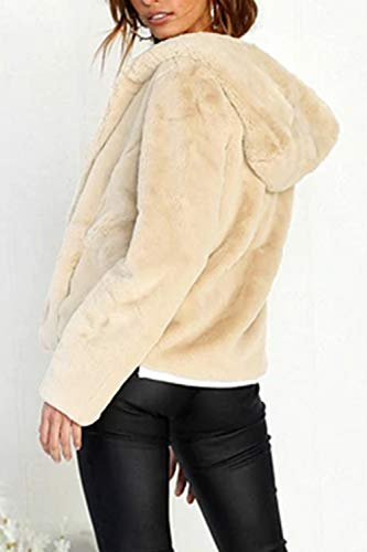court Manteau capuche avec à douces poches Zinmuwa beiges Women Oa6aw