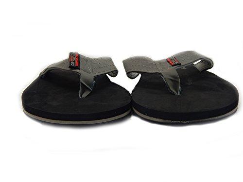 Ons Polo Assn. Premium Sandalen Van Heren, Allemaal Weerbehouden, Watervriendelijke Flip-flop Met Faux Suede Bandjes Grijs