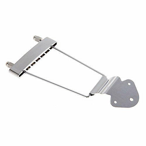 Timiy 6 String(Silver) Guitar Trapeze Tailpiece Bridge for Acoustic Guitar Bass
