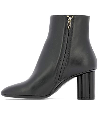 Black Leather Ankle Women's 0693090 Salvatore Ferragamo Boots tIfggq