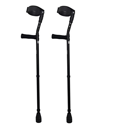 Thomas Fetterman Walk Easy 490 4'' Cuff Adjustable Forearm Crutches with Choice of Tips (Adjustable with Tornado Rain Tip) by Thomas Fetterman