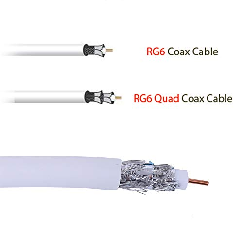 Five Star Cable 1000 ft. RG6 Quad Shielded Coaxial Cable ETL Listed for use with Audio/Video, Radio Frequency, and CATV/MATV Transmissions. White by FIVE STAR (Image #2)