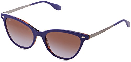 Ray-Ban Women's Acetate Woman Cateye Sunglasses, Top Violet on Orange Hav, 54 - Purple Clubmaster Ban Ray