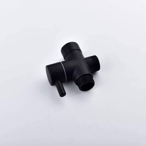 Brass Black 3-Way Diverter Valve for Handheld Shower Head or Bath Tap Switch Outlet T Valve T Adapter