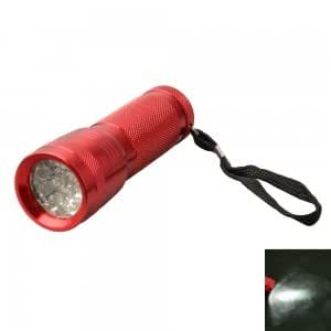 YQ7305 14LED High-grade Aluminum Alloy Flashlight Red (3*AAA)