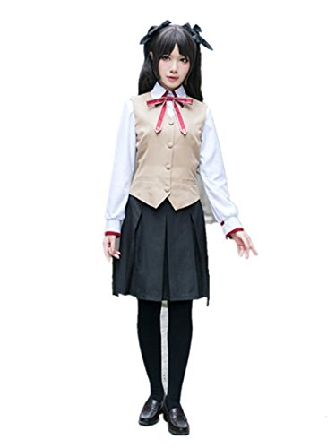 Love Fate/Stay Night Cosplay Costume-Tohsaka Rin Archer Uniform 6Pcs Set - Tohsaka Rin Costume