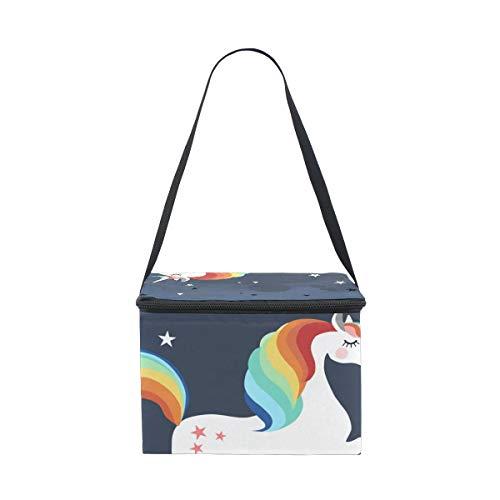 Unicorn De Lunchbox Lonchera Picnic Star Correa Hombro Cooler Running Para vx50wxpP