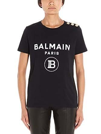 Balmain Luxury Fashion Womens SF11364I193EAB Black T-Shirt | Fall Winter 19
