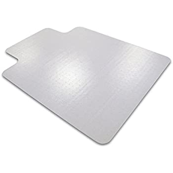 """Cleartex Ultimat Chair Mat, Clear Polycarbonate, For Low/Medium Pile Carpets up to 1/2"""", Rectangular with Lip, 35"""" x 47"""" (FC118923LR)"""