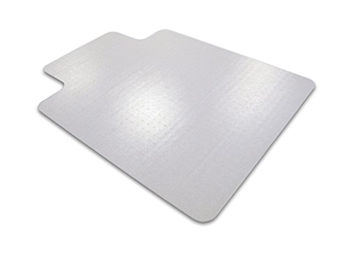 Cleartex Ultimat Chair Mat, Clear Polycarbonate, For Low/Medium Pile Carpets up to 1/2'', Rectangular with Lip, 35'' x 47'' (FC118923LR) by Cleartex