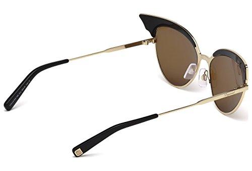 D Squared Für Frau 0166 Shiny Black / Gold / Roviex Metallgestell Sonnenbrillen udK0j