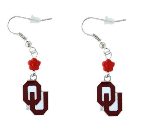 NCAA Oklahoma Sooners Sophie Beaded Earrings