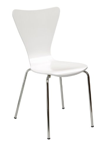 Legare Furniture Perfect Sit Bent Ply Chair, White Classic Student Chair Desk