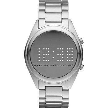 Marc Jacobs MBM3528 Men's Unisex Women's Silver Tone Aluminum Bracelet Digital Watch