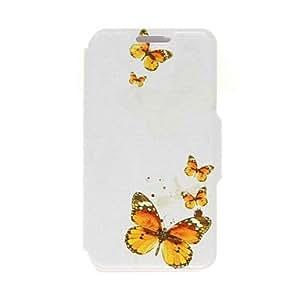 Modelo de mariposa kinston cuero de la PU caso de cuerpo completo con soporte para el iPhone 4 / 4s