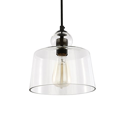 Light Society Tripoli Pendant Light, Oil Rubbed Bronze with Handblown Clear Glass Shade, Vintage Industrial Modern Lighting Fixture (LS-C247-ORB) by Light Society (Image #2)'