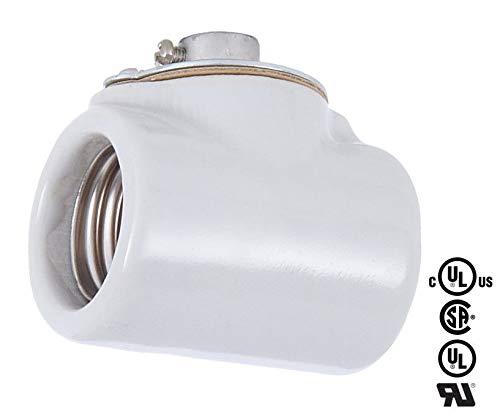 - Two Sided Porcelain Light Socket Vintage Style Double Bulb Lamp Holder