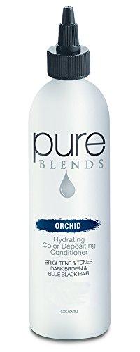 Orchids Blend (Pure Blends Hydrating Color Depositing Conditioner - Orchid (Depth of Dark Brown To Black) 8.5 Ounce)