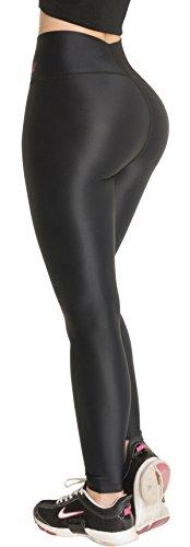 Butt Lifter Leggings High Waist Shaper Powernet Levanta Cola Colombianos 400BB Black Medium