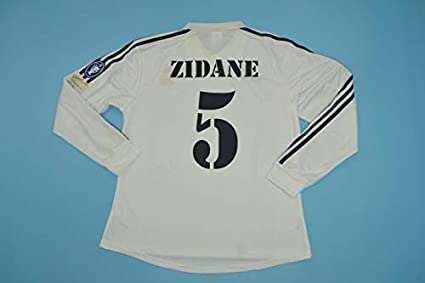 on sale 19a26 703f3 Retro Zidane#5 Real Madrid Longsleeve Soccer Jersey Champion League 2002  Full Patch