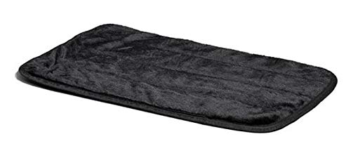 MidWest Quiet Time Pet Bed Deluxe Black Fur Pet Mat 49