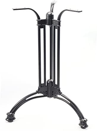 Mrhardware Bar Table Base Black Aluminum Suitable for Restaurants Bars and Cafes/Easy to Install and Structurally Firm(3-Legs)